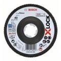 Disco de láminas BOSCH X-LOCK cónico de 125 mm para metal