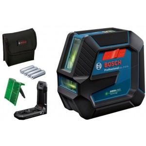 Nivel láser BOSCH de líneas verde GLL 2-15 con soporte - 0601063W00