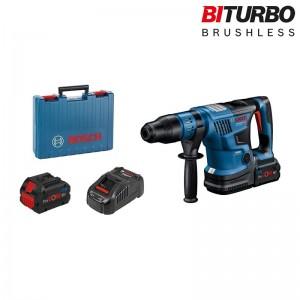 Martillo perforador a batería BITURBO con SDS max BOSCH GBH 18V-36 C con 2 baterías 5.5Ah y maleta - 0611915003