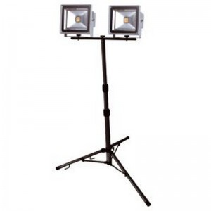 Foco proyector led AYERBE 2x30W con trípode - 620400