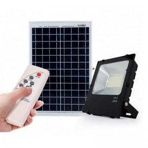 Foco proyector led AYERBE 100W con placa solar, batería y mando - 620645