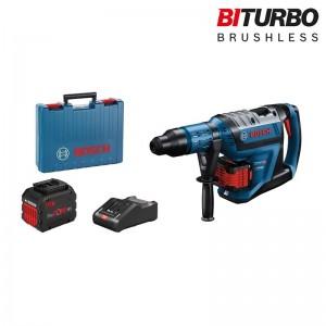 Martillo perforador a batería BITURBO con SDS-max BOSCH GBH 18V-45 C Profesional con 2 baterías 12Ah - 0611913002