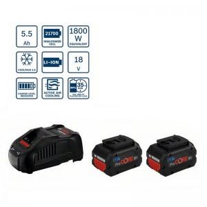 Power set de 2 baterías ProCore BOSCH GBA 18V 5.5Ah con cargador GAL 1880 CV - 1600A0214C