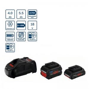 Power set 1 batería ProCORE BOSCH GBA 18V 4.0Ah y GBA 18V 5.5Ah con cargador GAL 1880 CV - 1600A0214A