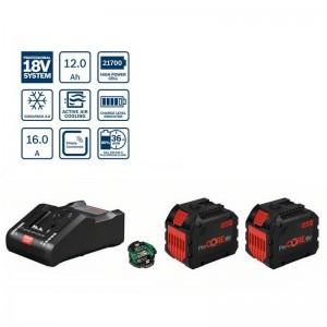 Power set de 2 baterías ProCore BOSCH GBA 18V 12Ah, cargador GAL 18V-160 C y módulo Bluetooth GCY 42 - 1600A0214C