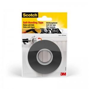 Cinta autosellante vulcanizable para reparaciones Scotch® negra 25mm - 3M 7100021070