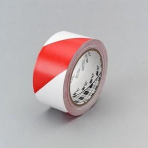 Cinta de Vinilo 3M 767 con franjas de señalización rojas y blancas, 50mm x 33m