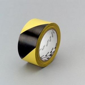 Cinta de Vinilo 3M 766 con franjas de seguridad negras y amarillas 766, 50mm x 33 m