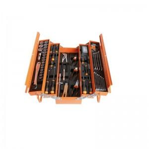 Caja de herramientas metálica BETA 2120L-E/T91-E para mantenimiento con 91 piezas