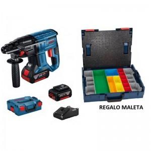 Martillo perforador con SDS-Plus BOSCH GBH 18V-21 con 2 baterías de 4.0Ah y maleta de regalo - 0611911102