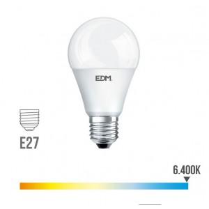 Lámpara led standard EDM E27 15W 1521 lúmenes luz fría 6400K - 98706