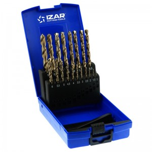 Juego de brocas IZAR DIN338 19 unidades - 1466 - 1-10X0,50 HSSE (1016) - 25274