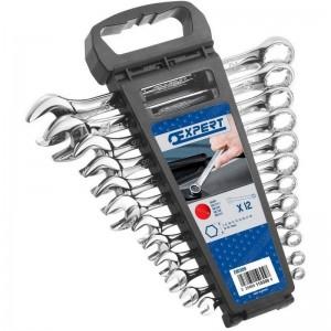 Juego de 12 llaves mixtas EXPERT con soporte - E110309
