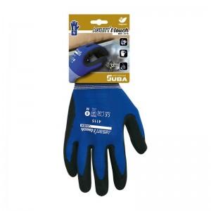 Guante de Nylon®/Elastano recubierto de nitrilo en combinación con poliuretano de base acuosa T-Touch® - H4115