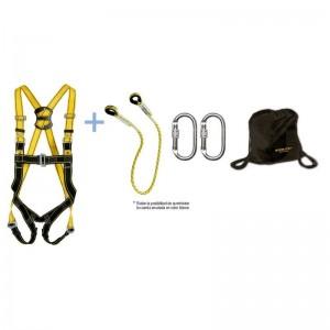 Kit SAFETOP NARANCO B de arnés + cuerda 1 m + 2 mosquetones + bolsa - 80991