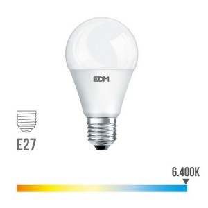 Lámpara led standard EDM E27 10W 810 lúmenes luz fría 6400K - 98324