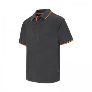 Polo VELILLA bicolor con raya de marga corta - 105505