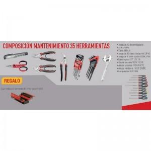 Juego de herramientas FACOM para mantenimiento con 35 piezas + caja metálica - CPROF611