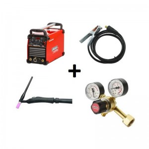 Pack Equipo soldadura TIG LINCOLN ELECTRIC Invertec® 160TPX + Antorcha Weldline WTT2 17 4M + cable masa 35mm + regulador