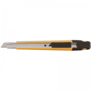 Cutter OLFA de bloqueo automático con clip para bolsillo y troceador de cuchillas - A-1