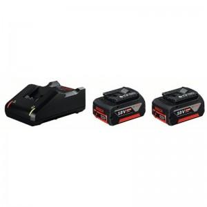 Power set BOSCH de 2 baterías GBA 18V 4.0Ah + cargador rápido GAL 1860 CV - 1600A002F8
