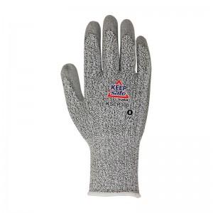 Guante sin costuras JUBA KEEP SAFE® de poliéster HDPE con elastano y recubierto de poliuretano en la palma - KSCP300